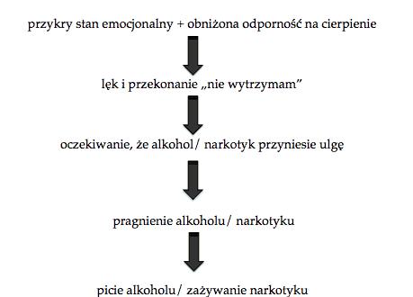 mechanizm nałogowego regulowania emocji - schemat nałogowego regulowania uczuć